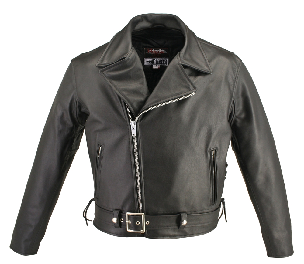black-horsehide-leather-motorcycle-jacket-classic-style-with-side-lace-www.leather-shop.biz-front-pic.jpg