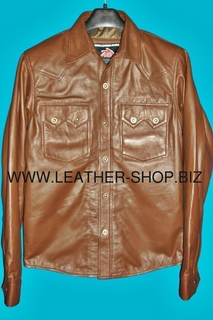 lambskin-leather-shirt-custom-made-style-ls040-light-brown-leather-color-front-of-shirt-pic.png