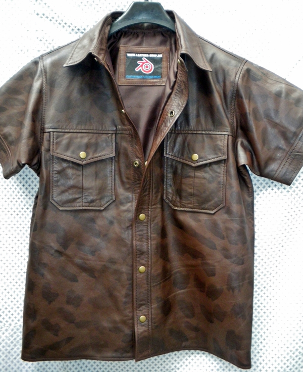 mens-leather-short-sleeve-shirt-ls210-distressed-style-www.leather-shop.biz-front-open-collar-pic.jpg