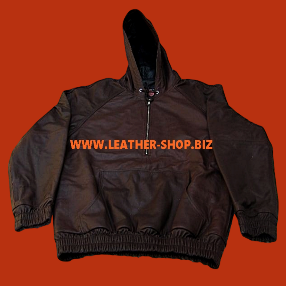top-ọkà-alawọ-hoodie-with-lambskin-awọ-aṣa-ti-jẹ-ara-clh051-dark-brown-www.leather-shop.biz-front-pic.png